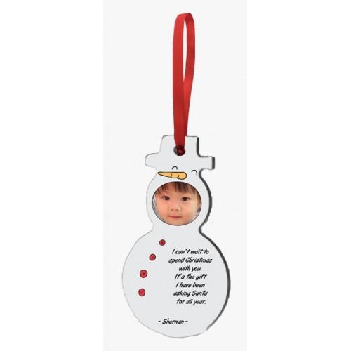 HardBoard Ornament Snowman