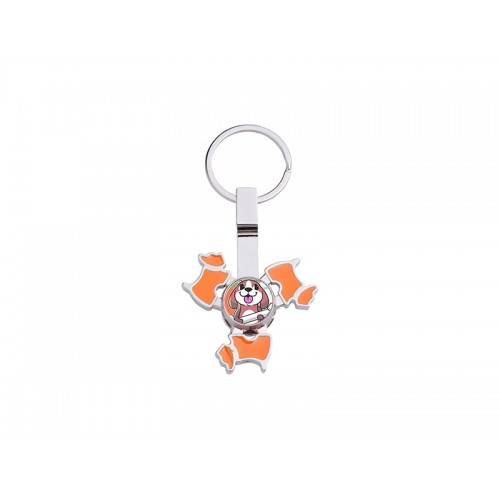 Fidget Spinner Keyring (Dog, Orange)