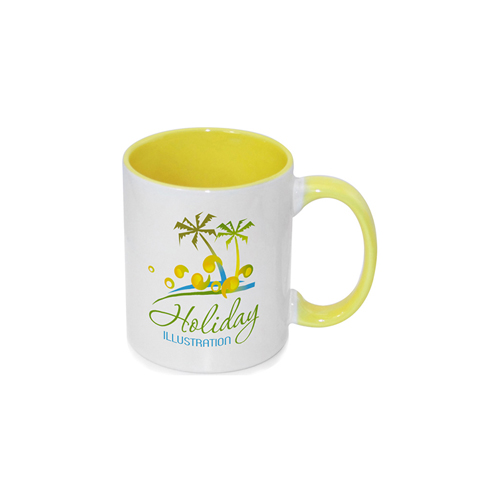 Inner Rim Color Mug(Yellow)