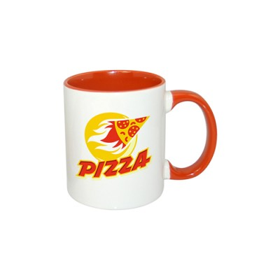 Inner Rim Color Mug(Orange)