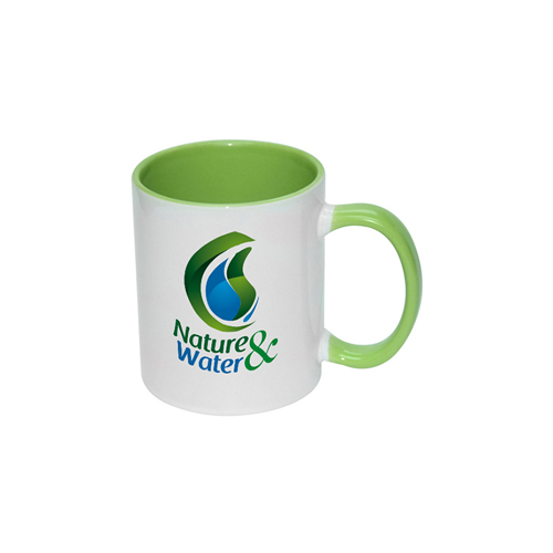 Inner Rim Color Mug(Light Green)