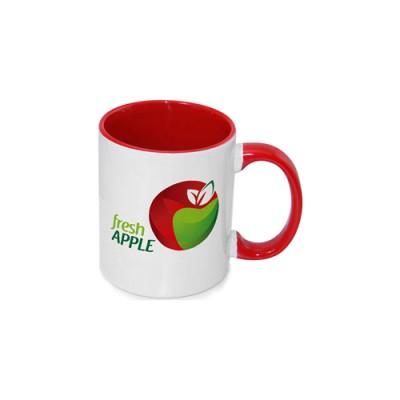Inner Rim Color Mug(Red)