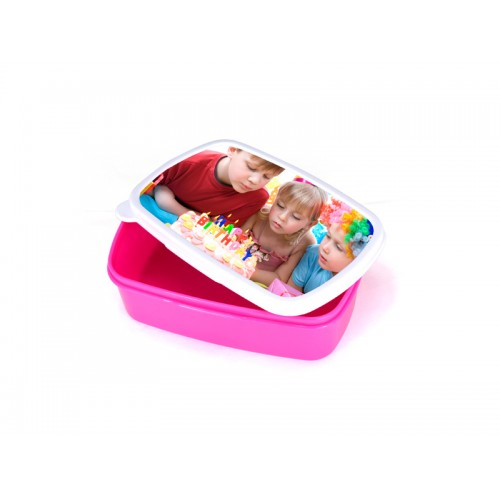 Plastic Lunch Box (Purple Red) with insert