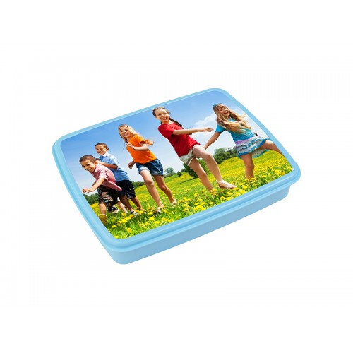 Plastic Lunch Box w/ Grid(Light Blue) w/ Insert