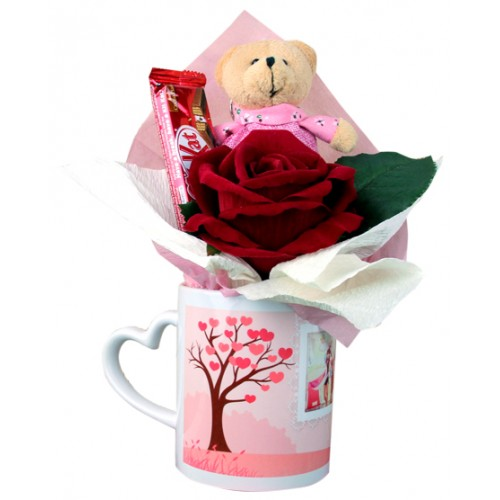 White Mug with Love Handle
