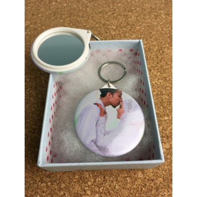 Photo Badge Keychain (Mirror)