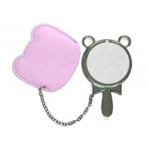 Round Hand Mirror with Leader Case