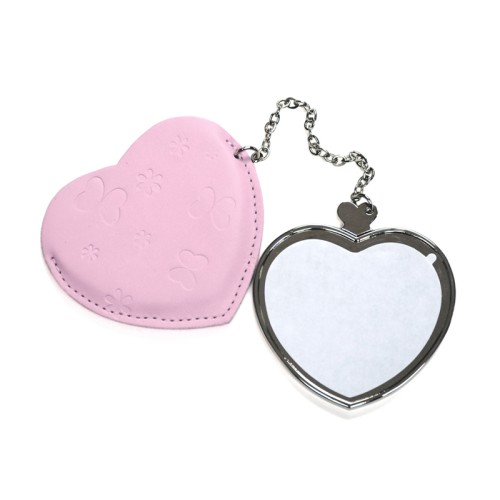 Heart Hand Mirror with Leader Case